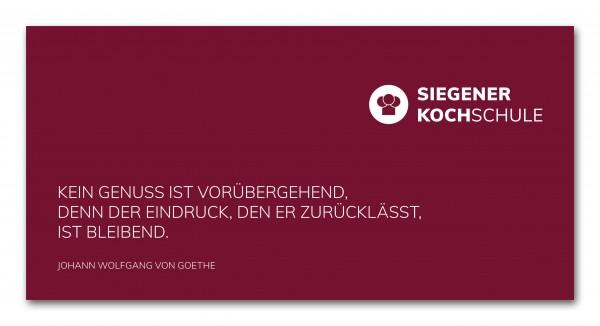 Gutscheinvorlage Siegener Kochschule (Brief)